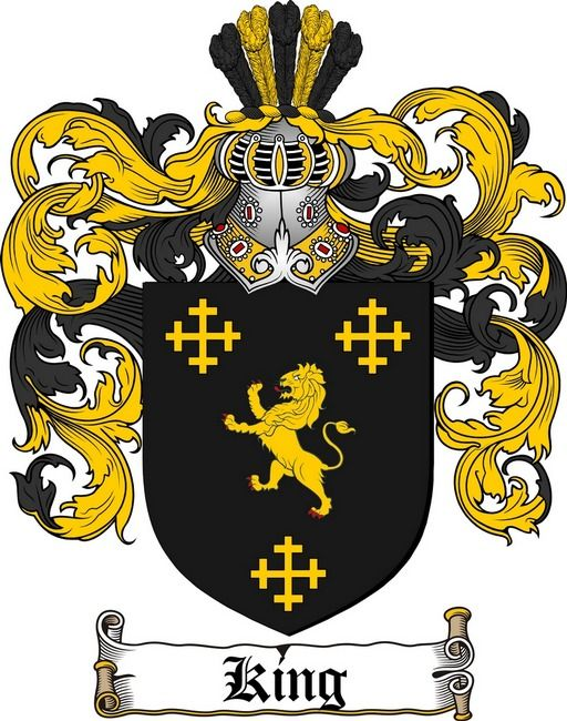 KING FAMILY CREST - COAT OF ARMS gifts at www 4crests com