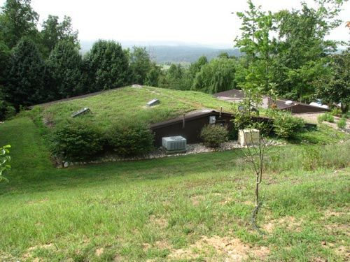 Berm home built into the ground is energy efficient how for Berm home