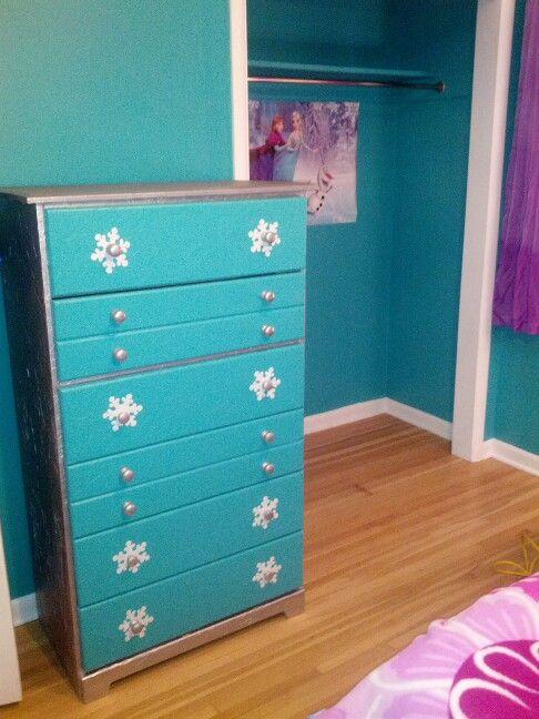 Cheap Bedroom Sets Kids Elsa From Frozen For Girls Toddler: Frozen Dresser With Glitter On Top!!