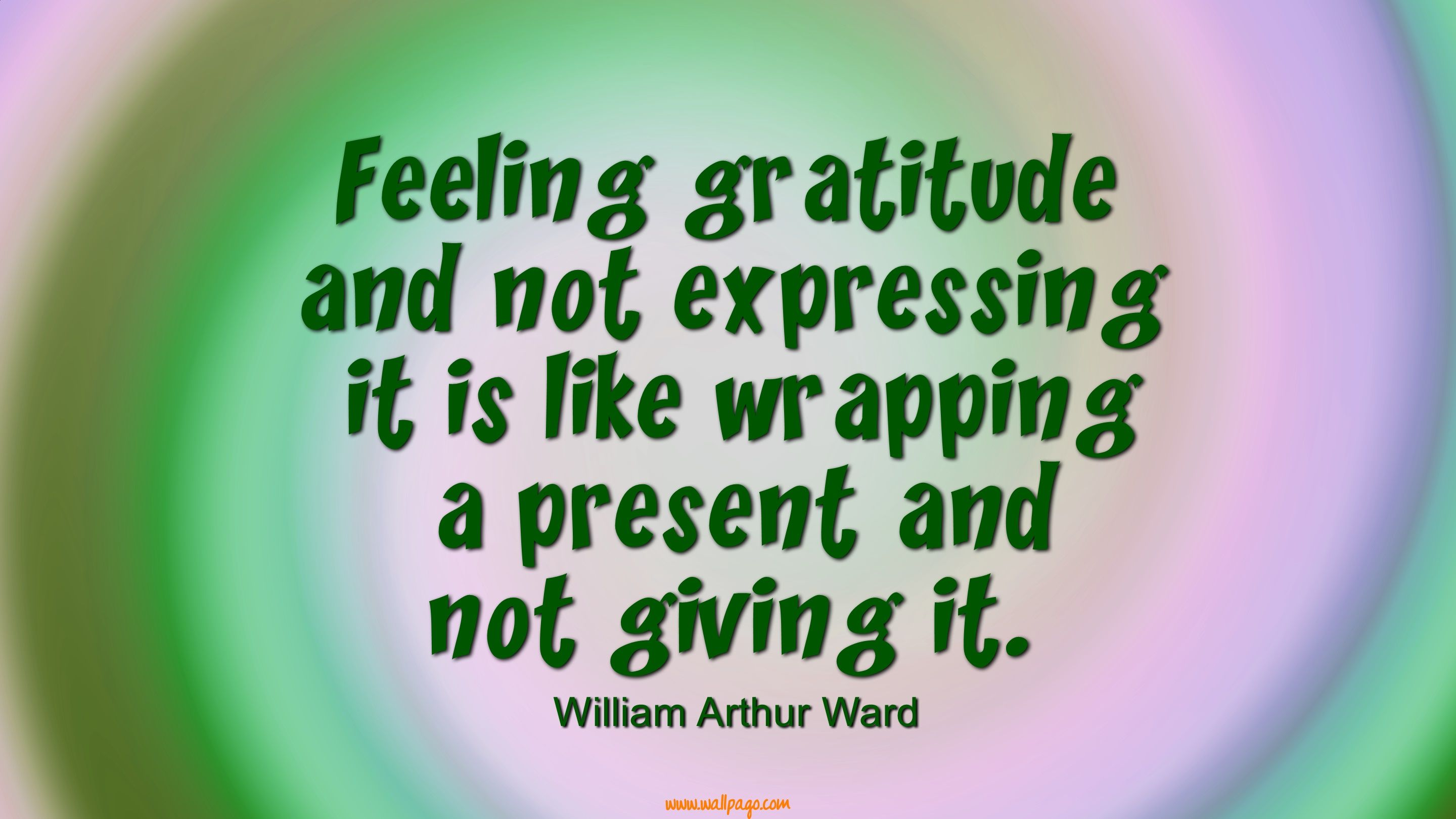 Feeling Gratitude Thanksgiving Day Wallpaper Quote