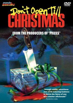 Dvd Cover For Don T Open Til Christmas Christmas Horror Christmas Horror Movies Scary Christmas