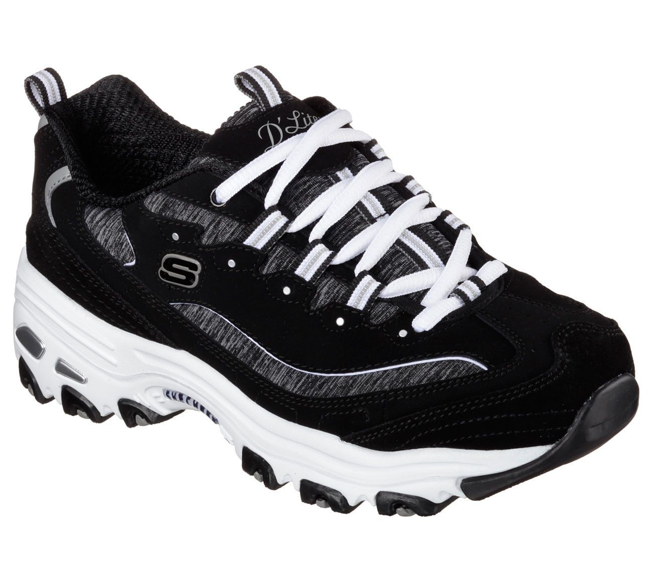 d3625e0c5 11936 Black Dlites Skechers Shoe Women Sport Casual Comfort Soft Memory  Foam Sketcher Sneakers, Shoes