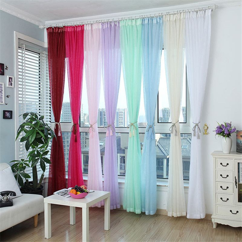 Mode Terylene Tüll Fenster-screening Jalousien Sheer Voile Gaze - vorhänge für wohnzimmer
