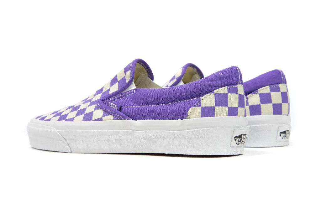 c03d958666aa Image result for vans slip on checkered purple