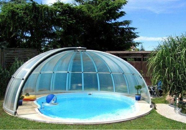 swimming pool In the garden swimming pool building dome | yard ...