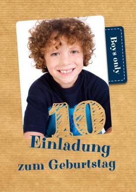 passt beinahe zu jedem thema: trendy einladung für kinder zum 10, Einladung