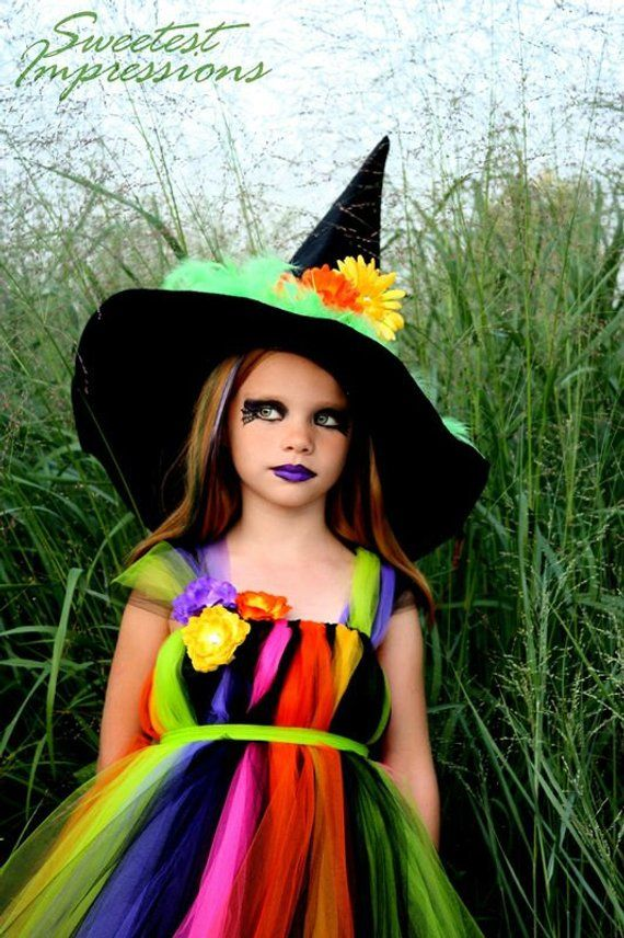 89ca8241169a9 Witch Costume - Tutu Dress - Costume - Fancy Witches Hat - Halloween ...