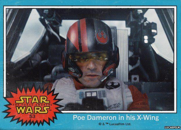 Star Wars Trading Card  - X-Wing fighter pilot Poe Dameron
