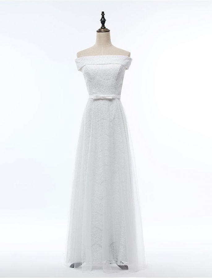 1950s Vintage Inspired Style Off Shoulder Elegant Lace Formal ...