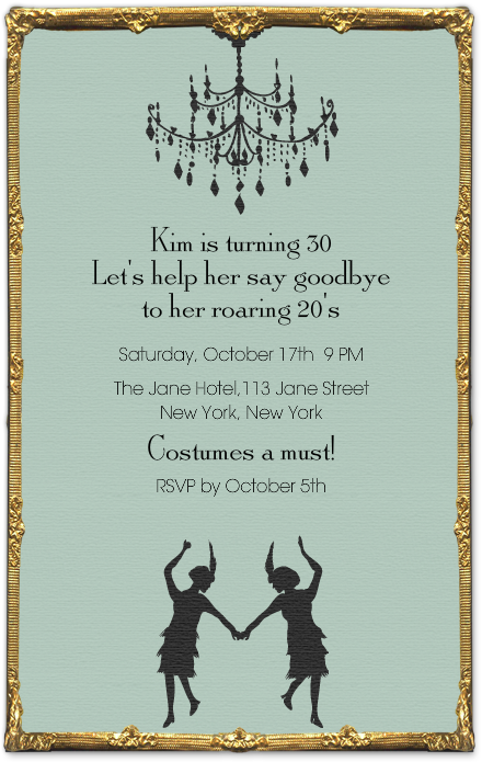 Fun 30th birthday idea dirty 30 pinterest flappers fancy and love this idea for a 30 year bday party this flapper fancy invitation is perfect to get your roaring night started filmwisefo Choice Image
