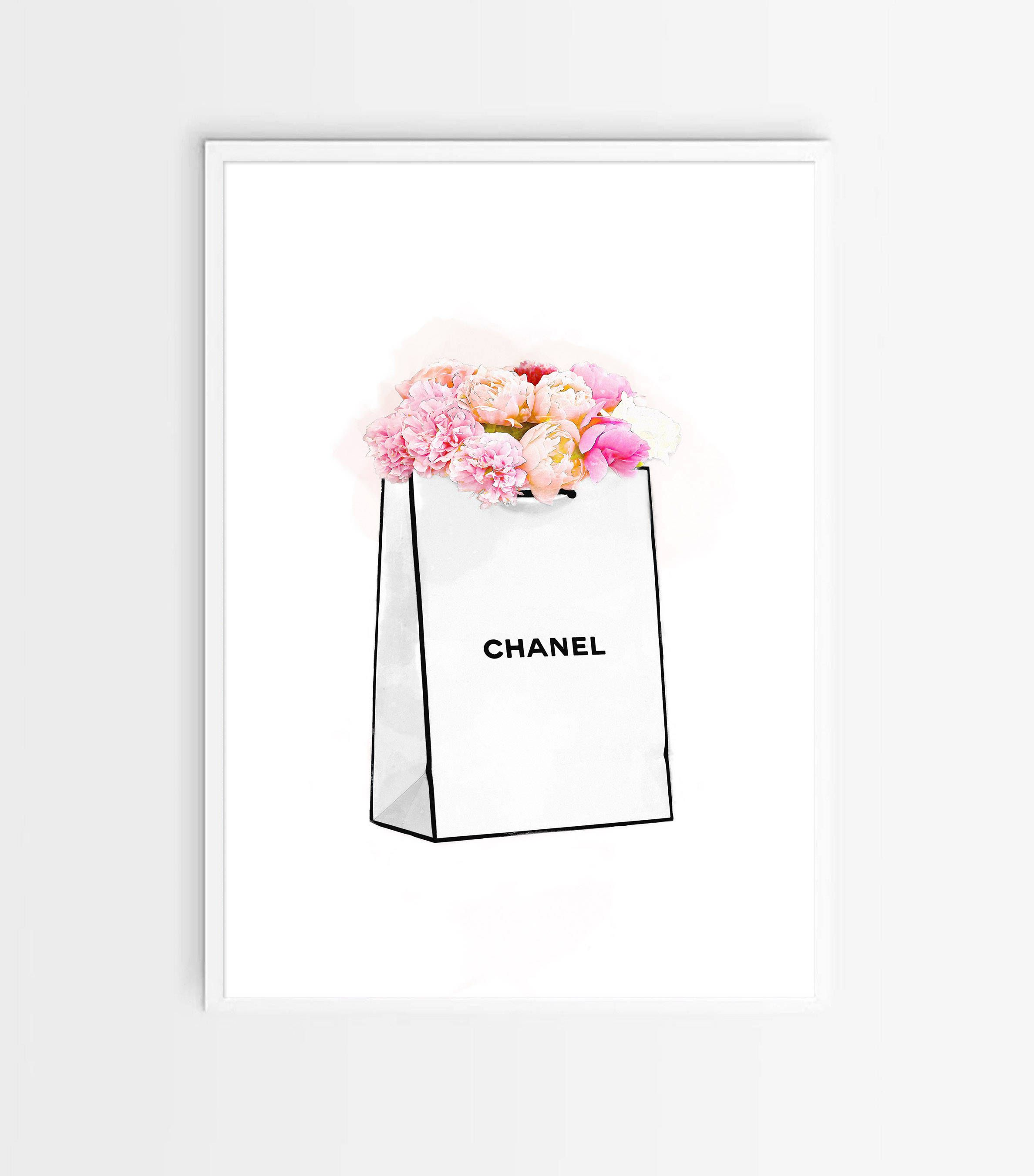 Chanel Art Printed Large Chanel Wall Art Coco Chanel Poster Coco Chanel Print Coco Chanel Wall Art Chanel Sketch Chanel Shopping Bag By Zjstudio On Etsy