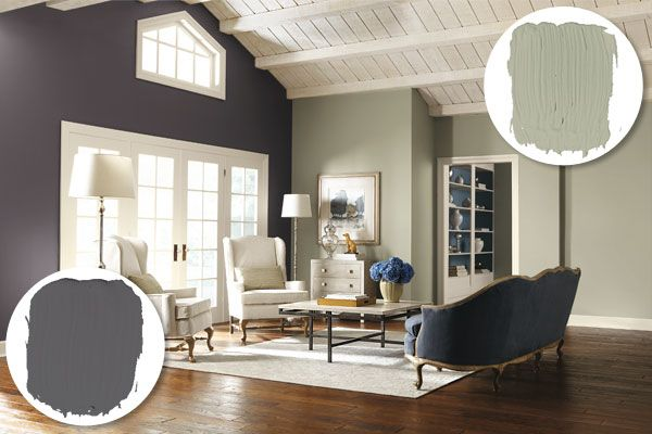 Living Space Viewfinder Paint On A Colorful Accent Wall This Old House Mobile Accent Walls In Living Room Grey Paint Living Room Wall Color Combination