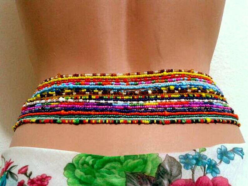 Double strand 2 piece waist beads body jewelry belly