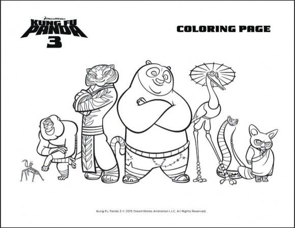 DreamWorks KUNG FU PANDA 3 Trailer And Party Printables Kids ColouringColoring SheetsKung