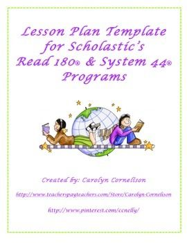 Weekly Lesson Plan Templates To Use With Scholastics Read 180 And System 44 Programs