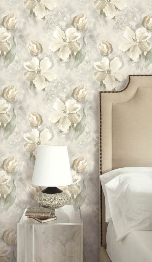 Light And Airy White Painted Floral Wallpaper From Wallquest S Primo Collection Wallpaper Decor Floral Wallpaper Wallpaper