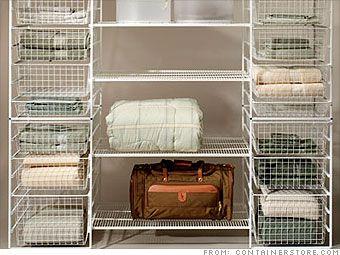 How To Save Money On Your Closet Organization System Via CNN Money #budget  #closetmakeover