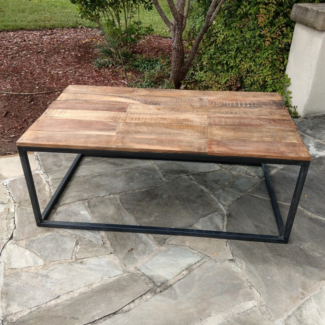 f59b654c52 Iron and Wood Coffee Table in 2019 | Coffee Table | Table, Coffee, Wood