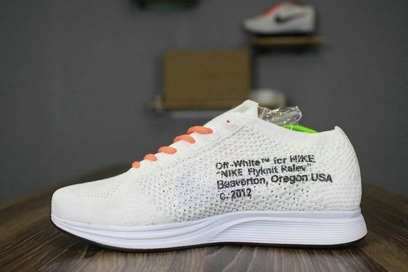 off white x nike flyknit racer aa526628 100 white black orange shoe for sale big boys