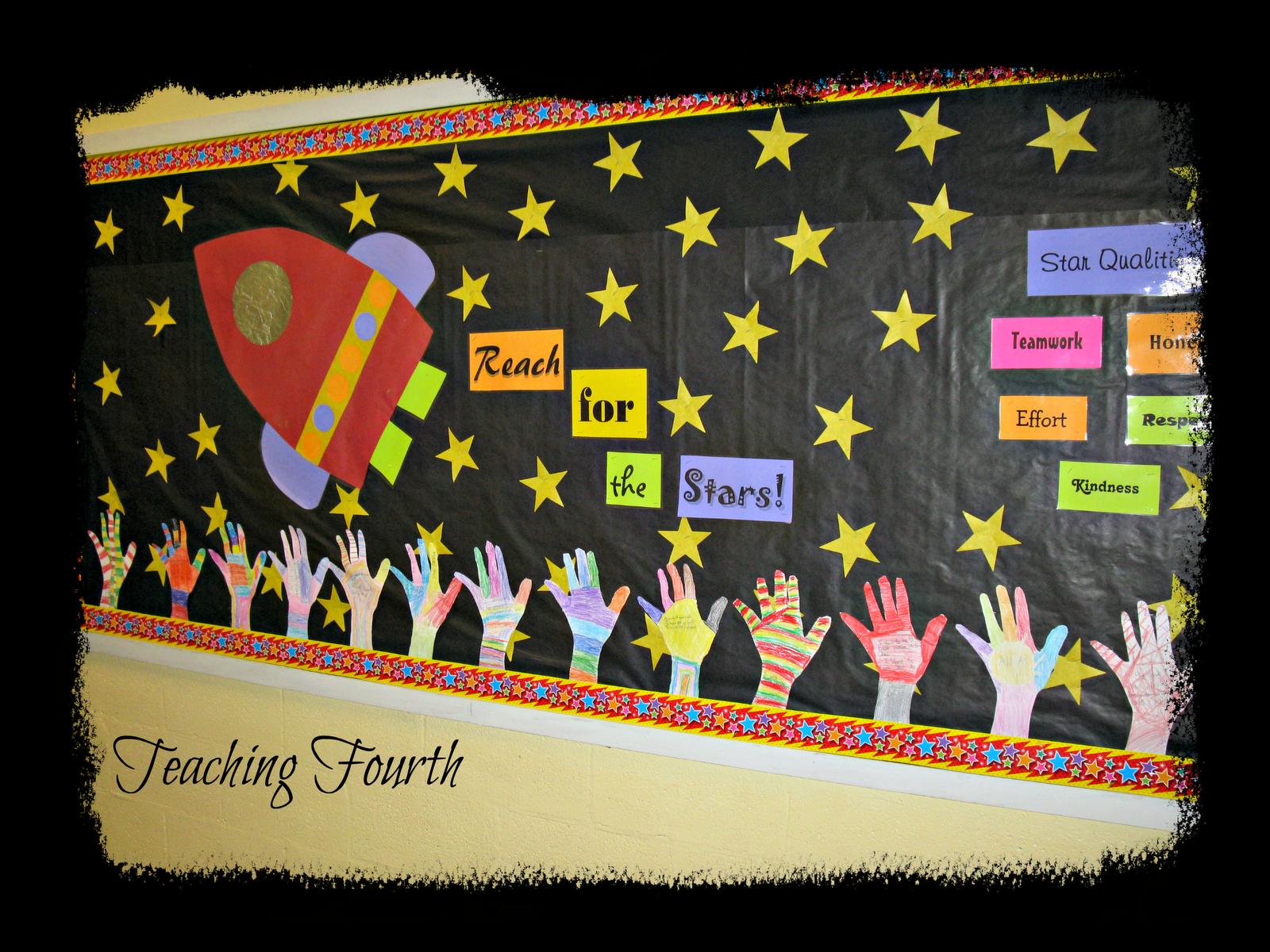 Classroom Decor Stars ~ September bulletin board ideas are probably familiar