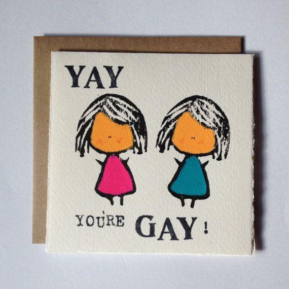 Yay You're Gay Card