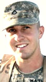 Army SGT Marcus C. Mathes, 26, of Zephyrhills, Florida. Died April 28, 2008, serving during Operation Iraqi Freedom. Assigned to 94th Brigade Support Battalion, 4th Brigade Combat Team, 10th Mountain Division (Light Infantry), Fort Polk, Louisiana. Died of injuries sustained from indirect fire when enemy mortar shells detonated near his position at Forward Operating Base Loyalty in Baghdad, Iraq.