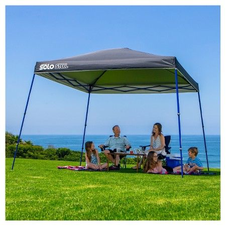 Quik Shade Solo Steel 90 Black Target Instant Canopy Steel Canopy Canopy