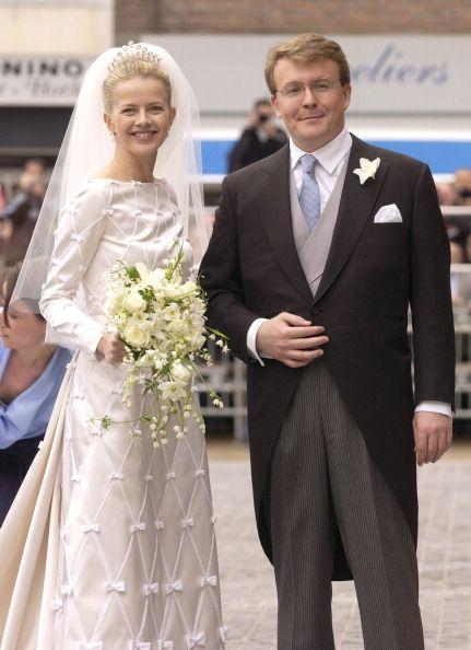 Los príncipes Friso y Mabel de Orange-Nassau (Holanda) el día de su boda el 24 de Abril de 2004.