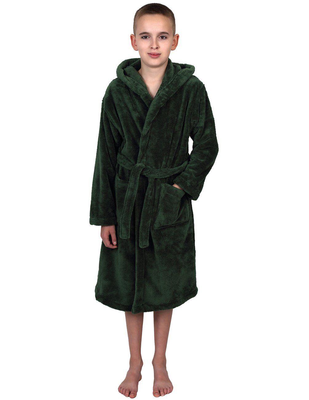 TowelSelections Big Boys' Hooded Plush Robe Soft Fleece