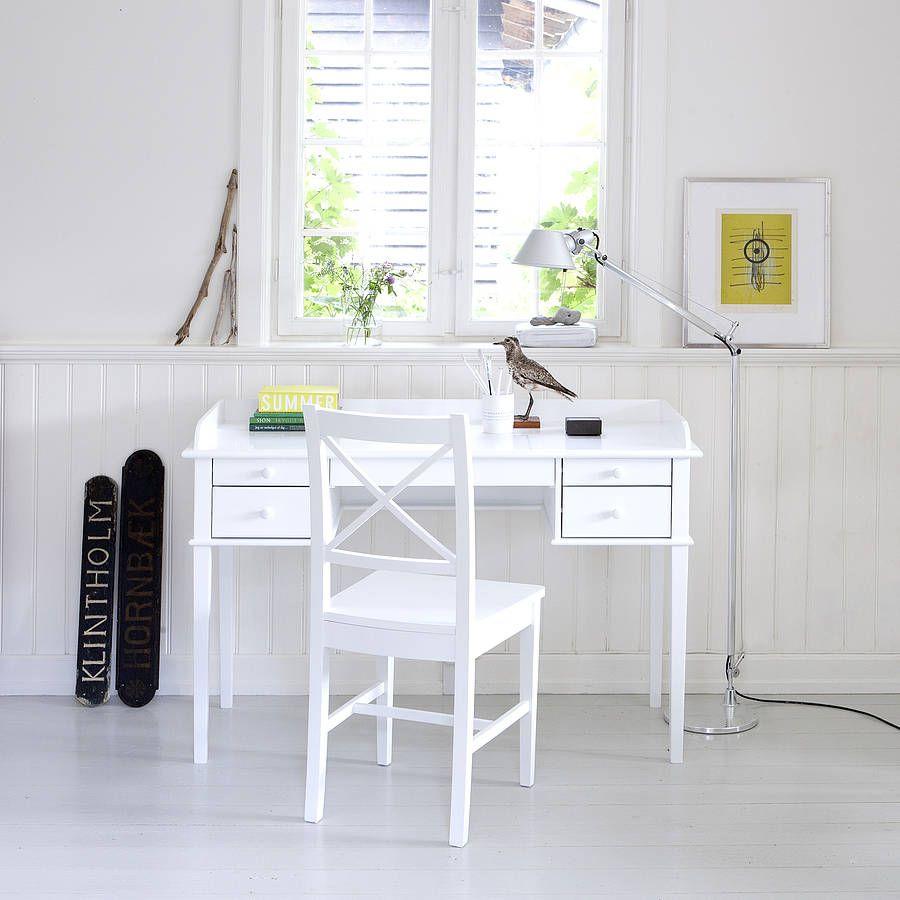 Wonderful White Scandanavian Desk Or Dressing Table