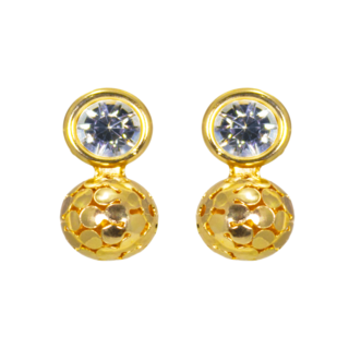 Alloy Golden Ball Fashion Stud Earrings for Women