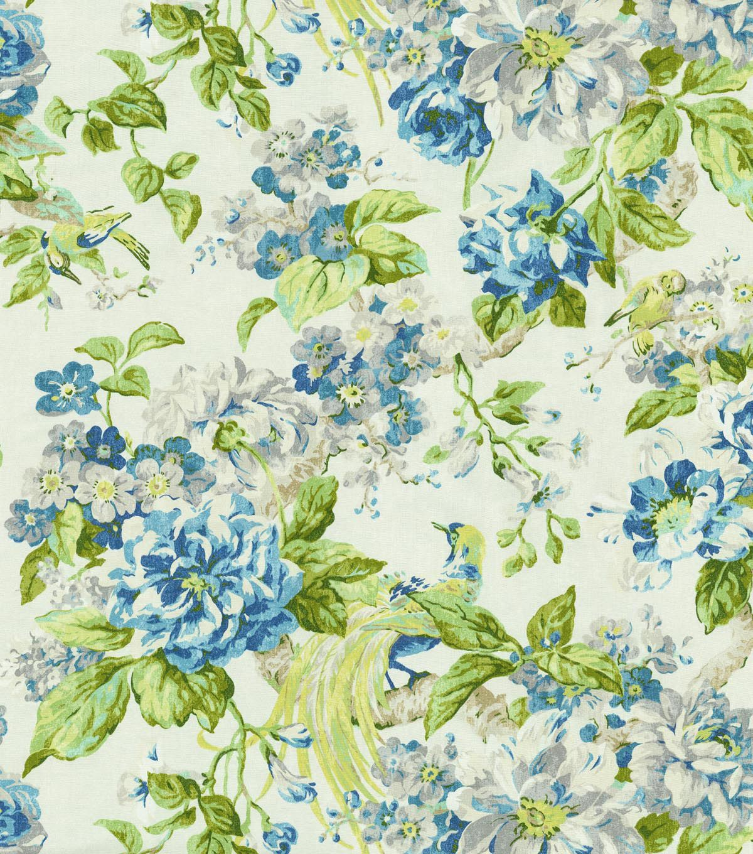 "Waverly Upholstery Fabric 54"" Cranford Porcelain JOANN"