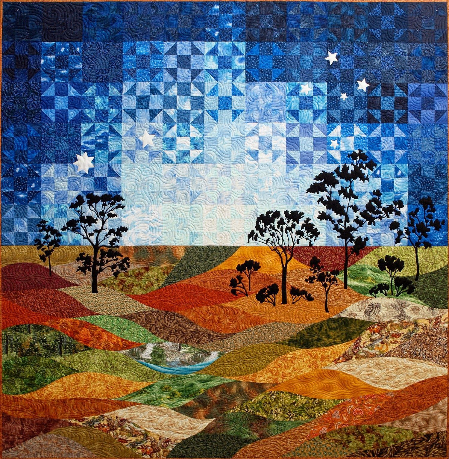 Landscape Quilt Patterns Custom Ideas