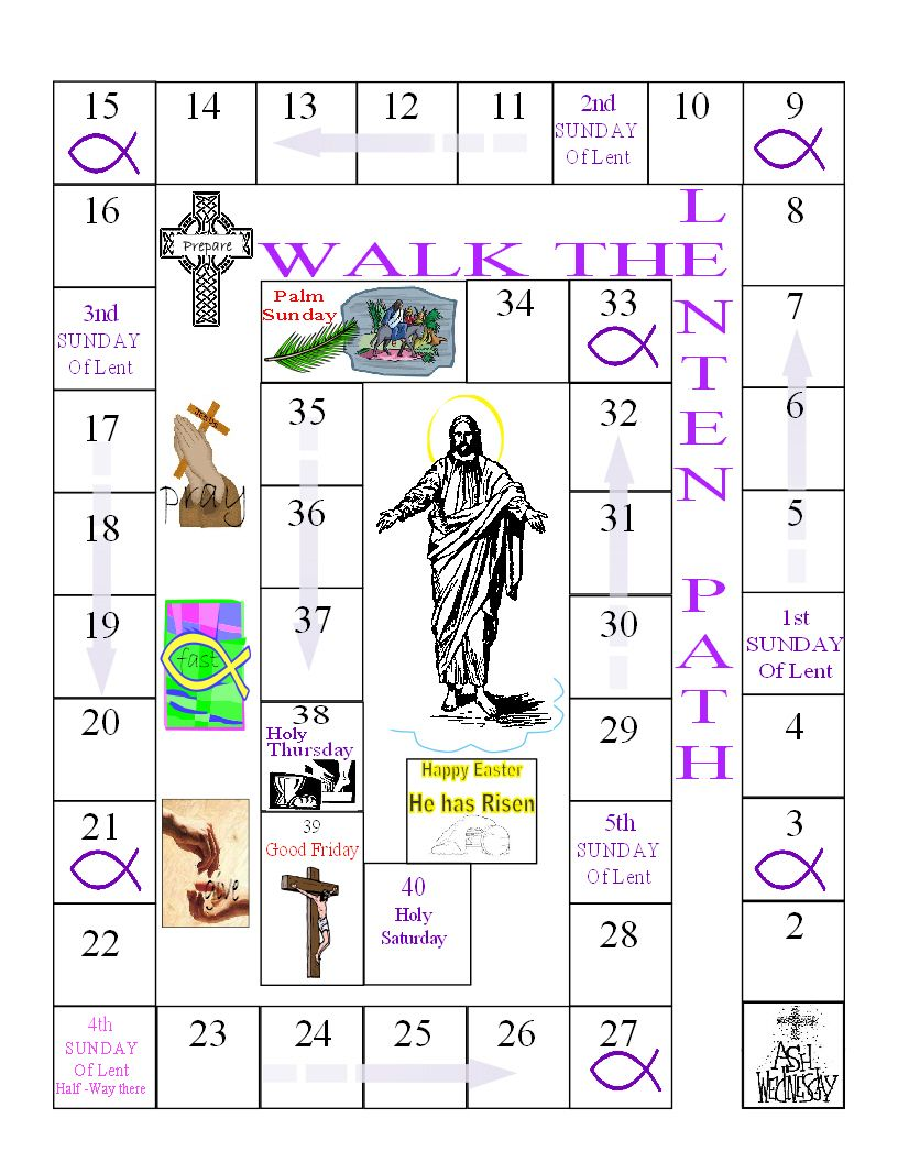 Ash Wednesday Coloring Pages 40 Days Of Lent Kids Calendar Lent