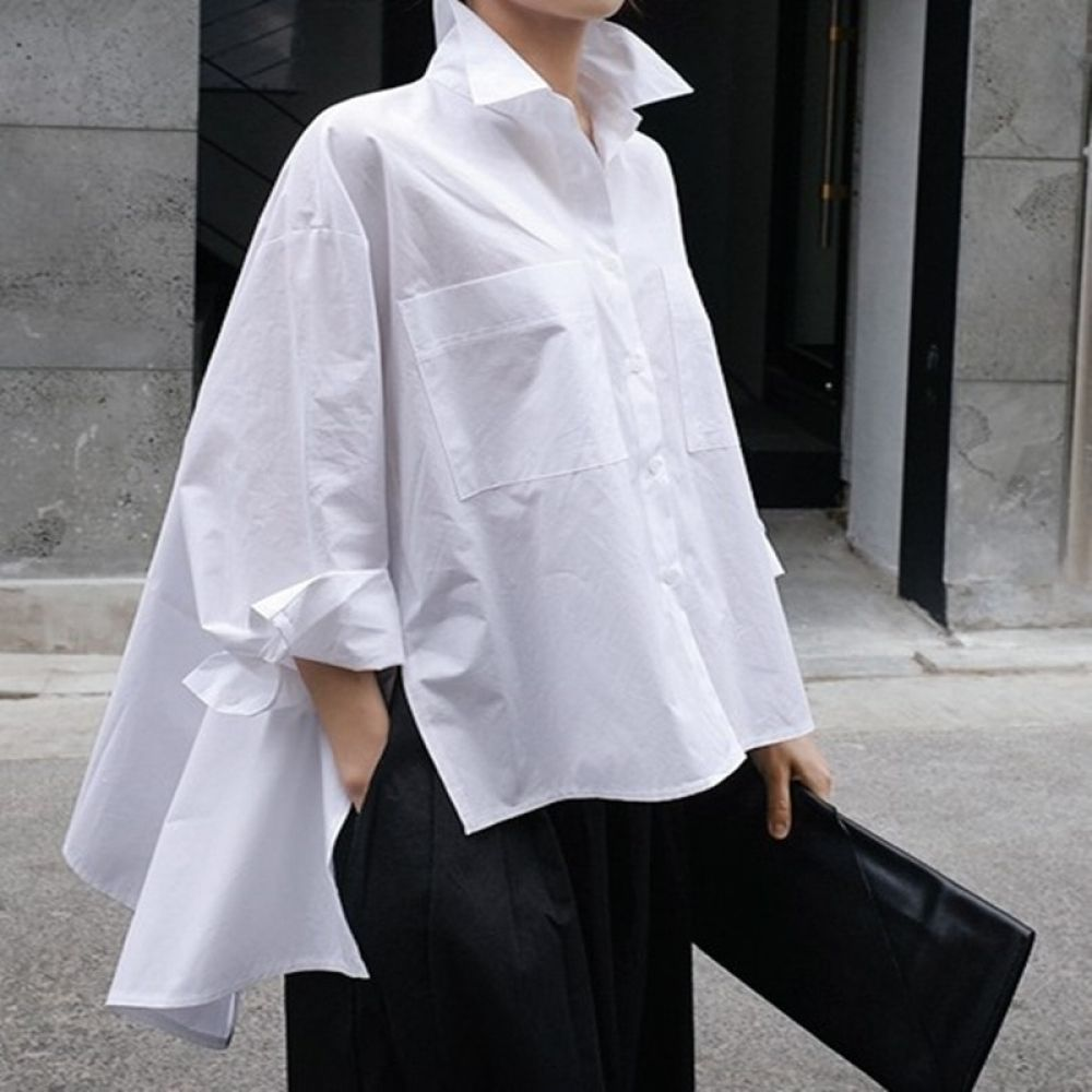 4Spring and Summer New Shirt Female Korean Style Cotton Wild