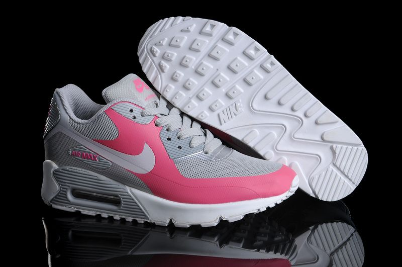 Womens Nike Air Max 90 Hyperfuse Grey Pink White