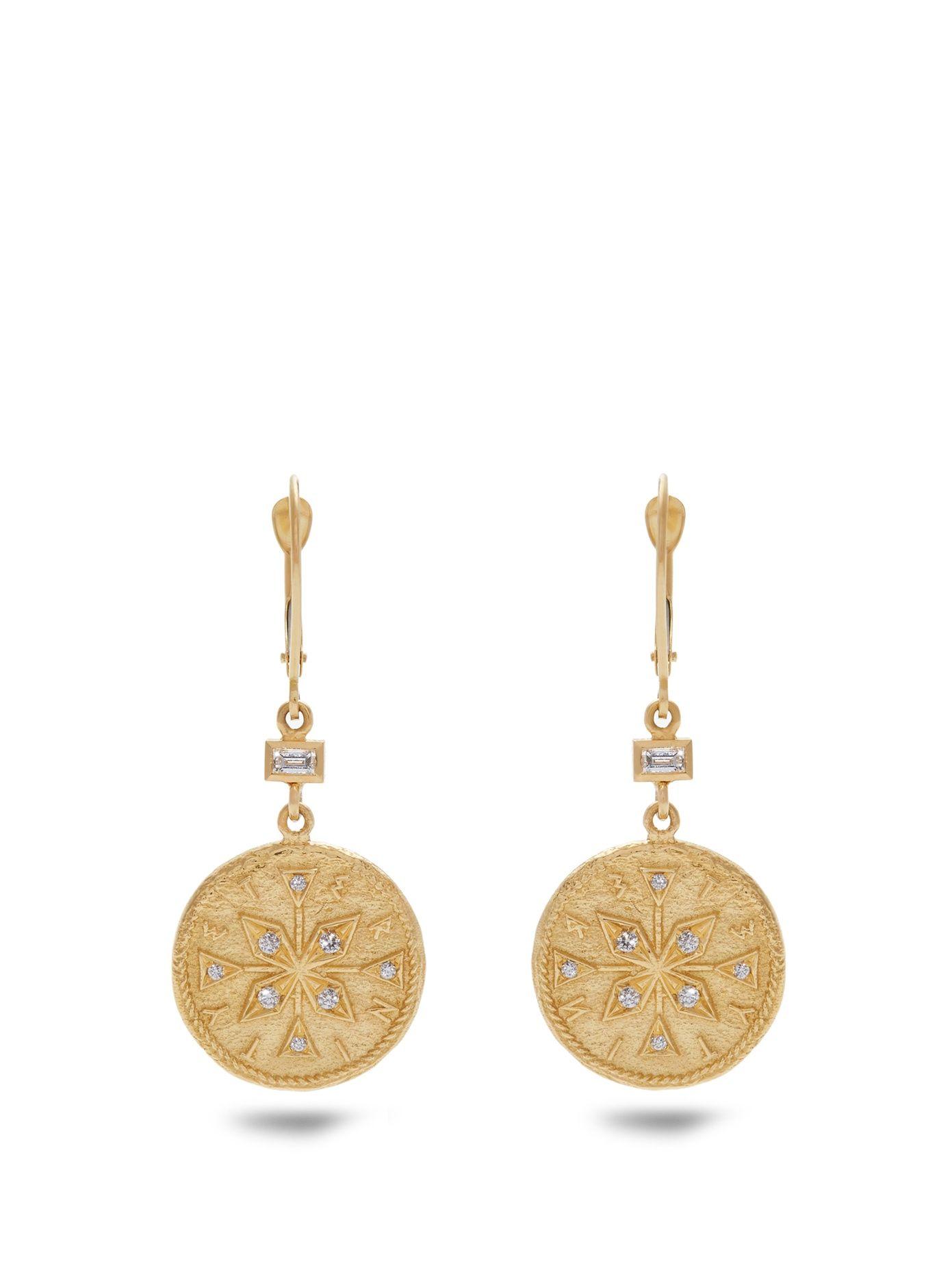 Animal Kingdom diamond & yellow-gold earrings Azlee rcHZpIRXvn