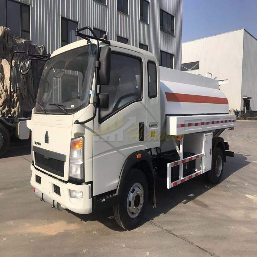 Sinotruk 5000 Liters Fuel Tank Truck From Howo Factory Driving Type Left Hand Drive Right Hand Drive For Option Trucks Fuel Truck Heavy Truck