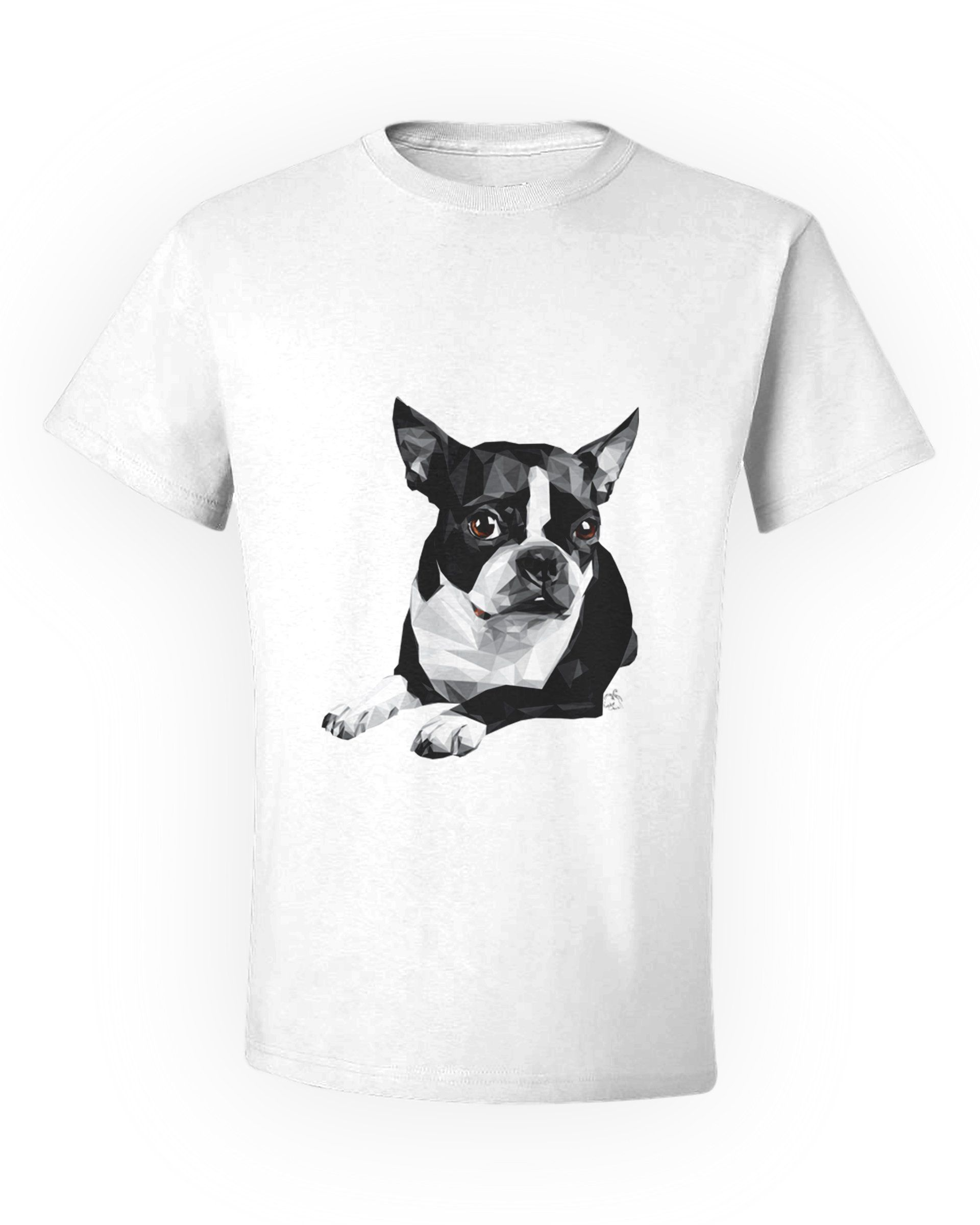 OWNED BY A BOSTON TERRIER T-SHIRT For Dog Lover Pet Owner Black Cotton Gift