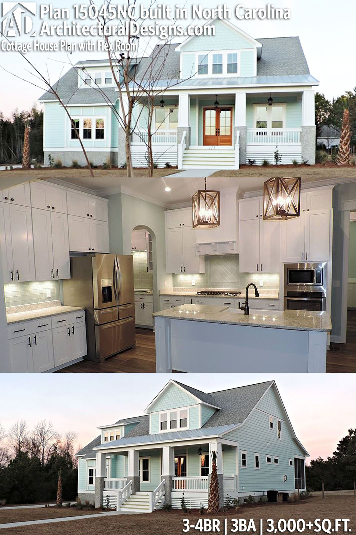 Architectural designs house plan nc built by thornton builders in north carolina br and sq ft ready when you are also cottage with flex room plans rh pinterest