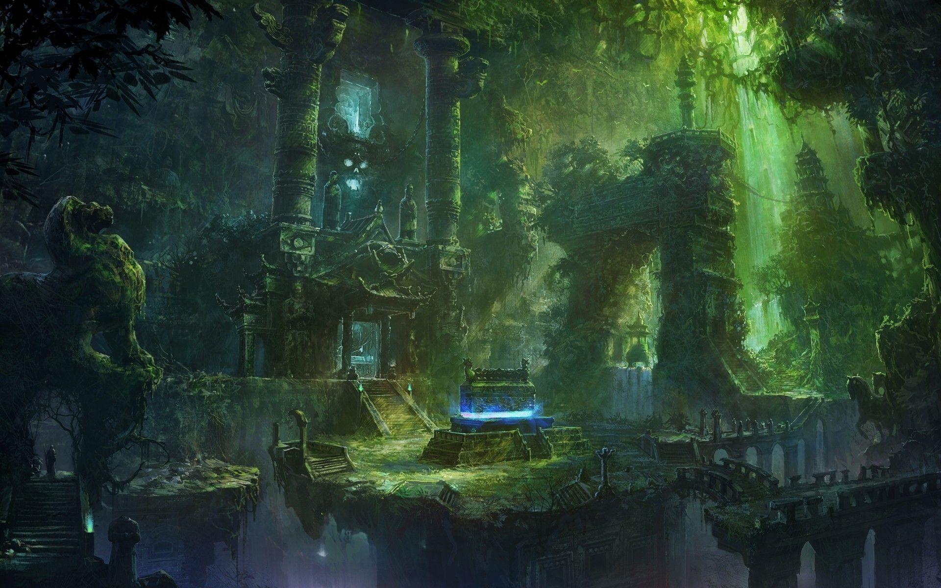 Ancient Tomb [1920 x 1200] Fantasy landscape, Fantasy