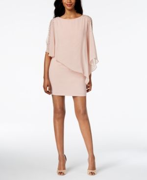 606f62730a3 X by Xscape Petite Capelet Sheath Dress - Black 6P