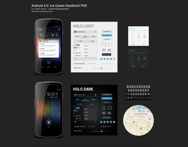 Here We Are Presenting A Fresh Collection Of Some Useful And Free Ui Psd Files For Androids Since Android Market Is Growing Quite Extensively