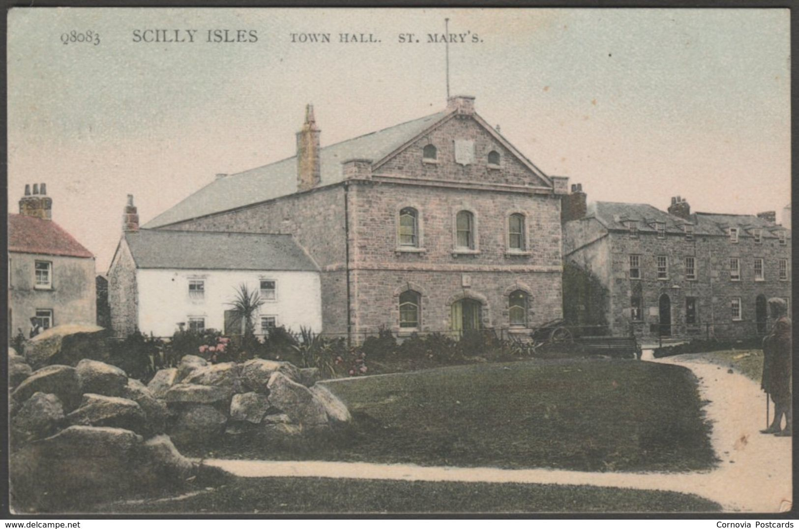 Town Hall, St Mary's, Scilly Isles, 1908 - Peacock Postcard