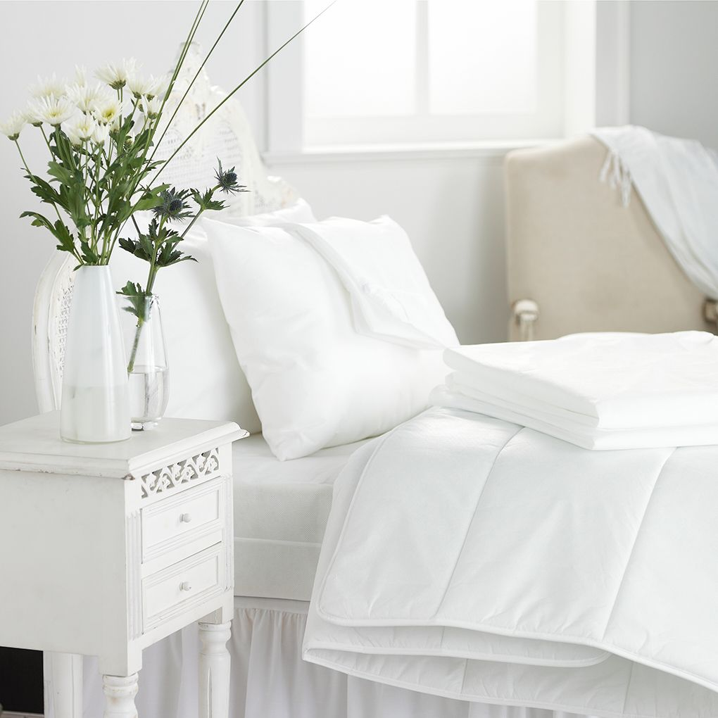 item number 16 17 18 are a pure white cotton flat sheet an anti
