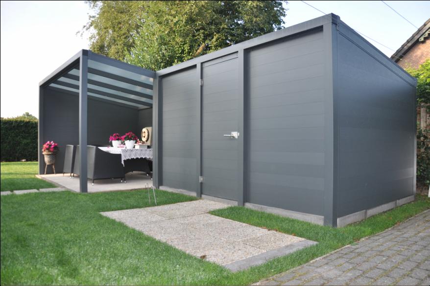 aluminium berging uitbreiding pinterest. Black Bedroom Furniture Sets. Home Design Ideas
