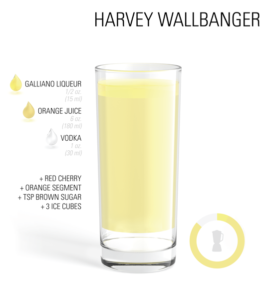 #Cocktail #Recipe - Harvey Wallbanger | #Cocktail #Recipe ...