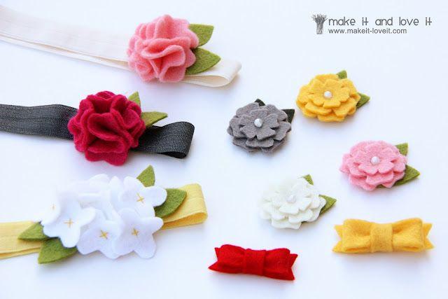 felted wool flowers