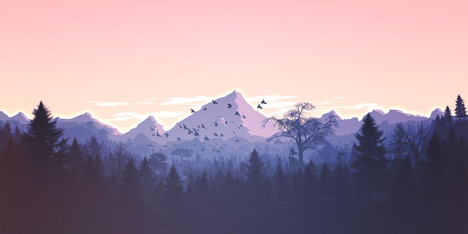 Free Image On Pixabay Mountains Panorama Forest Minimalist Desktop Wallpaper Background Hd Wallpaper Minimal Desktop Wallpaper