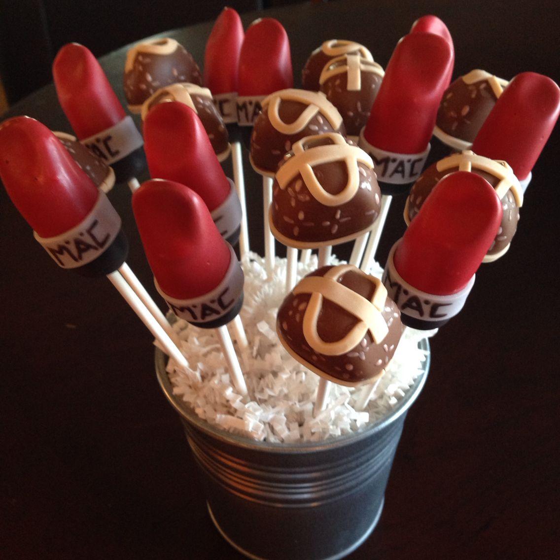 Lipstick Cake: Louis Vuitton Purse And MAC Lipstick Cake Pops